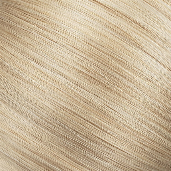 "Flat Clip-In 18"" Hair Extensions Bright Beige Platinum"