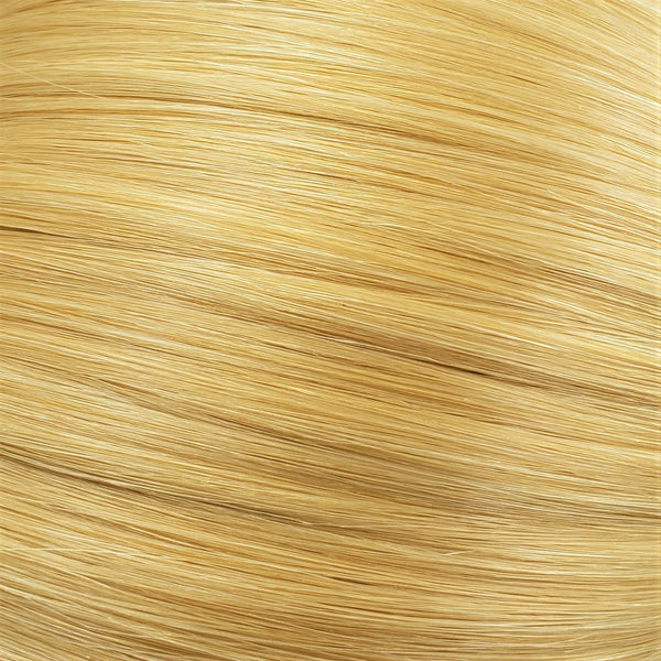 "Flat Clip-In 18"" Hair Extensions Bright Golden Blonde"