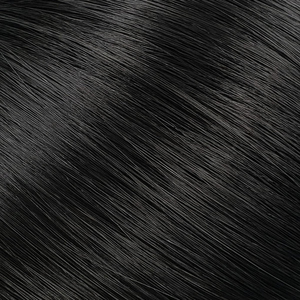 "S-Tape 14"" Straight Tape-in Hair Extensions True Jet Black"