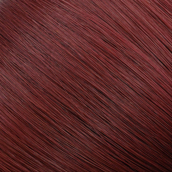 "Flat Clip-In 22"" Hair Extensions Rich Burgundy"