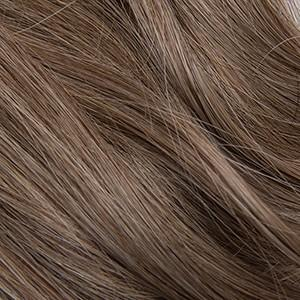"S-Tape 14"" Straight Tape-in Hair Extensions Light Warm Brown / Medium Ash Blonde / Pale Golden Blonde Blend"