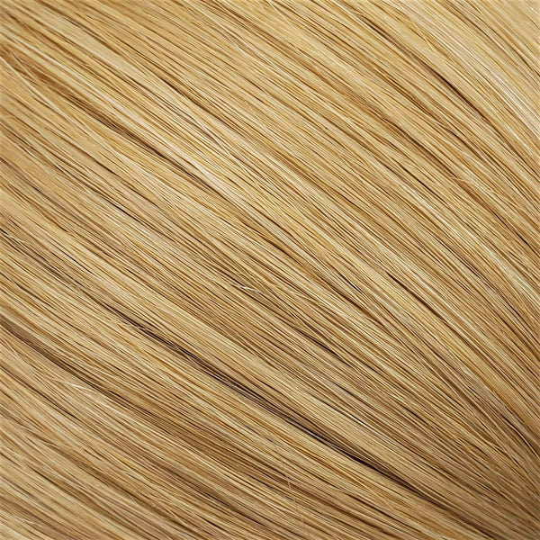 "Flat Clip-In 14"" Hair Extensions Light Strawberry Blonde/Bright Beige Platinum Blend"