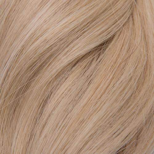 "Flat Clip-In 18"" Hair Extensions Pale Golden Platinum / Light Ginger Blend"