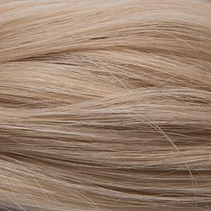 "Flat Clip-In 18"" Hair Extensions Pale Golden Platinum / Pale Golden Blonde Blend"
