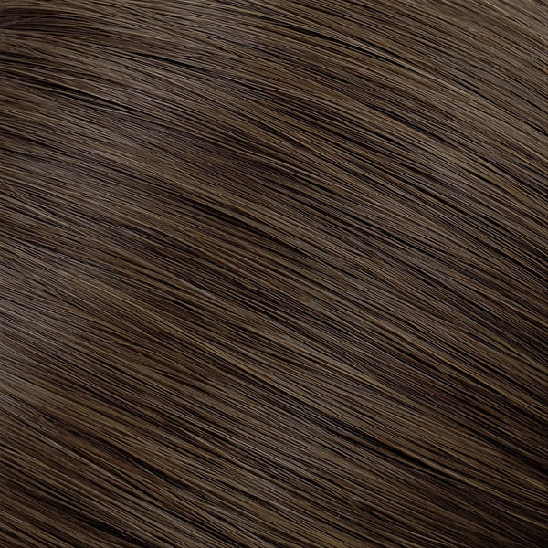 "S-Tape 18"" Straight Tape-in Hair Extensions Medium Dark Brown"