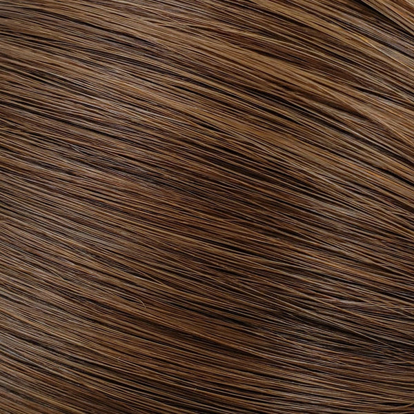 "Flat Clip-In 18"" Hair Extensions Medium Golden Brown"