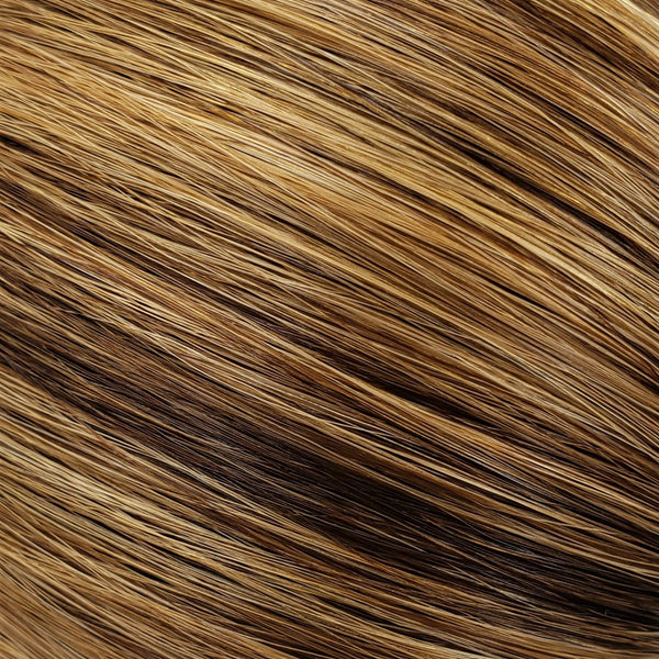 "M-Tip 14"" Straight Hair Extensions Medium Golden Brown / Caramel / Light Ginger Mix"