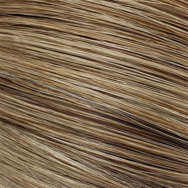 "S-Tape 14"" Straight Tape-in Hair Extensions Light Warm Brown / Medium Ash Blonde / Pale Golden Blonde Mix"