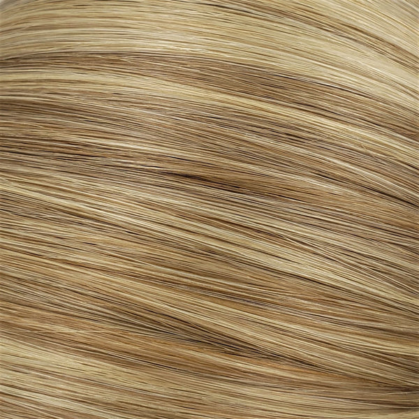 "S-Tape 14"" Straight Tape-in Hair Extensions Light Ash Brown / Pale Golden Blonde Mix"