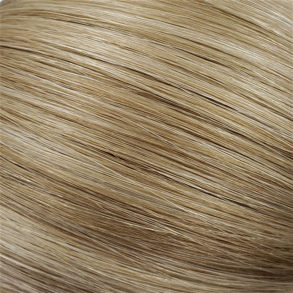 "I-Tip 14"" Straight Hair Extensions Medium Ash Blonde / Bright Beige Platinum Mix"