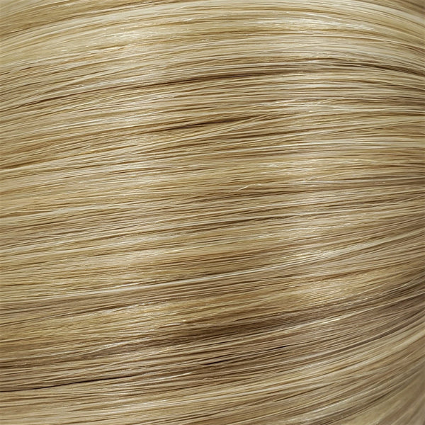 "S-Tape 18"" Straight Tape-in Hair Extensions Medium Ash Blonde / Golden Blonde Mix"