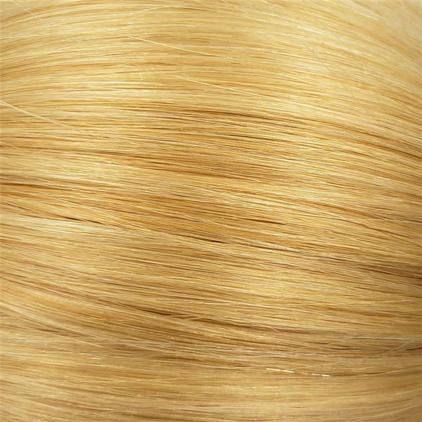 "M-Tip 14"" Straight Hair Extensions Pale Golden Platinum / Light Ginger Mix"