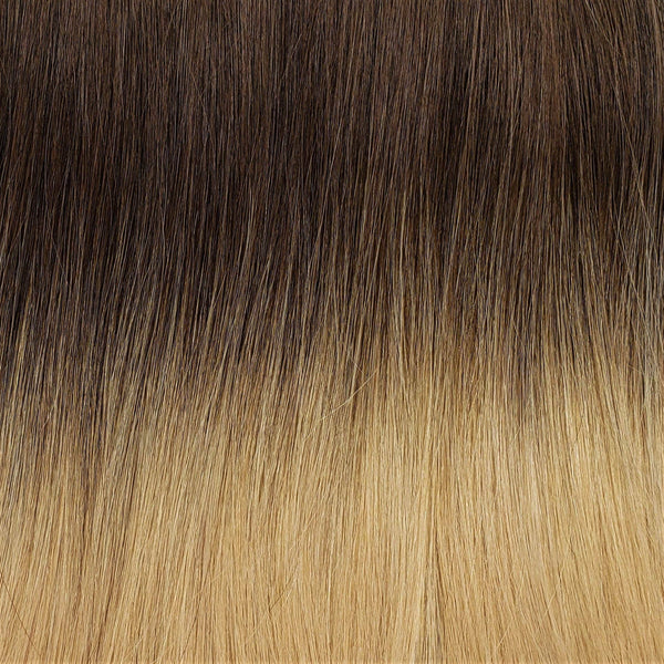 "S-Tape 22"" Straight Tape-in Hair Extensions Medium Golden Brown / Medium Strawberry Blonde"