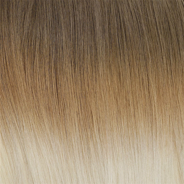 "I-Tip 22"" Straight Hair Extensions Light Ash Brown / Medium Ash Blonde / Bright Beige Platinum"