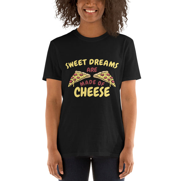 """Sweet Dreams Are Made of Cheese"" Short-Sleeve Women's T-Shirt"
