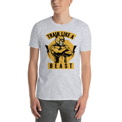 """Train Like a Beast"" Short-Sleeve Men's T-Shirt"