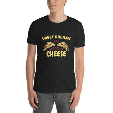 """Sweet Dreams are Made of Cheese"" Short-Sleeve Men's T-Shirt"