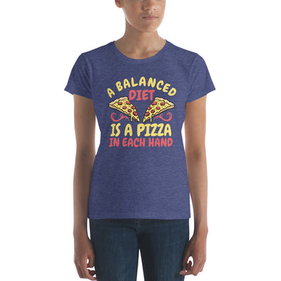 """A Balanced Diet"" Women's Short-Sleeve T-Shirt"