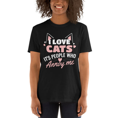 """I Love Cats"" Short-Sleeve Women's T-Shirt"