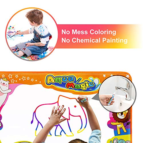 Betheaces Water Drawing Mat Aqua Magic Doodle Kids Toys Mess Free Coloring  Painting Educational Writing Mats Xmas Gift for Toddlers Boys Girls Age of  ...