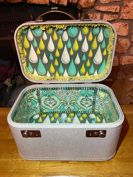 Teal Prince Charming Train Case