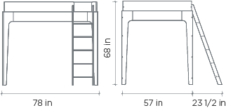Perch Full Loft Bed Dimensions
