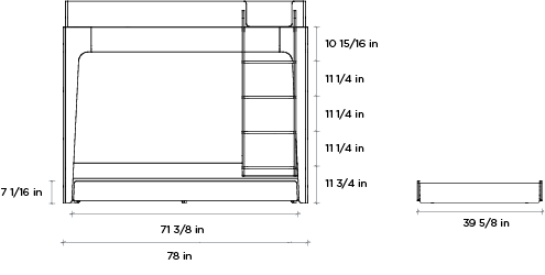 Perch Trundle Bed Dimensions