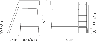 Perch Twin Bunk Bed Dimensions
