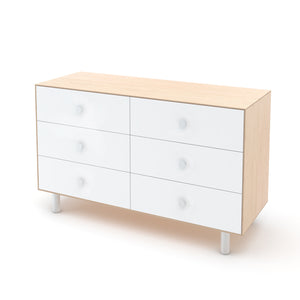 Oeuf Canada Modern Kids Dresser 6 Drawer Dresser - Classic Birch/White Option