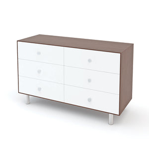 Oeuf Canada Modern Kids Dresser 6 Drawer Dresser - Classic Walnut/White Option