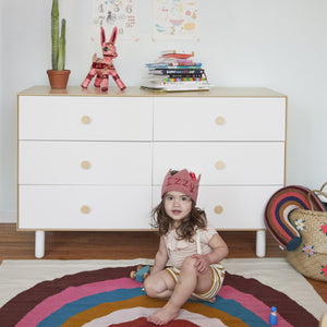 Shop Oeuf Canada Modern Kids Storage 6 Drawer Dresser - Fawn White/Birch Option
