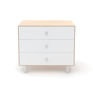 Buy Now Modern Kids Dresser 3 Drawer Dresser White/Birch Colour Option - Classic