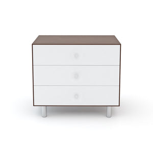 Buy Now Modern Kids Dresser 3 Drawer Dresser White/Walnut Colour Option - Classic