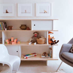 Shop Oeuf Canada Modern Toddler & Kids Storage Mini Library White/Birch Option