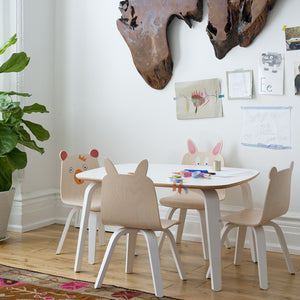 Shop Oeuf Canada Modern Kids Bear Play Chairs Room Setting White/Birch Option