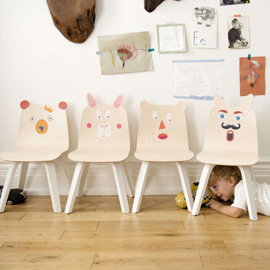 Shop Oeuf Canada Modern Kids Bear Play Chairs White/Birch Option
