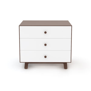 Shop Oeuf Canada Modern Kids Storage 3 Drawer Dresser - Sparrow Walnut/White Option