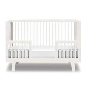 Modern Nursery Sparrow Toddler Bed Conversion Kit in Canada White