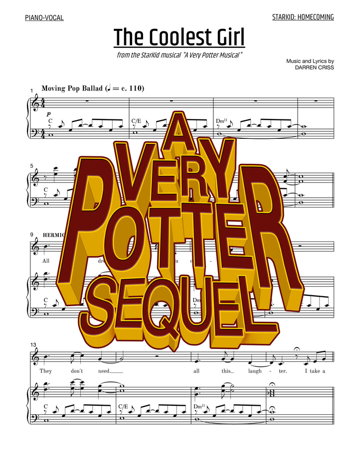 A Very Potter Sequel - Sheet Music - The Coolest Girl