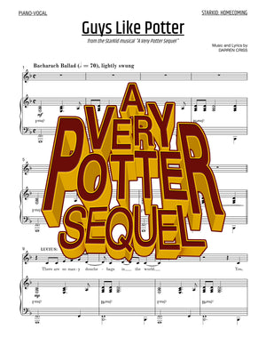 A Very Potter Sequel - Sheet Music - Guys Like Potter
