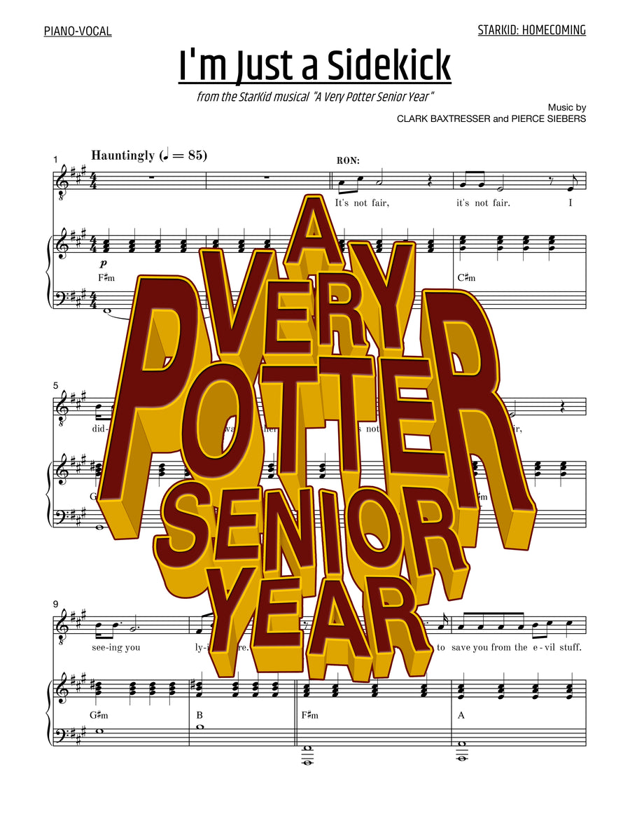A Very Potter Senior Year - Sheet Music - I'm Just a Sidekick