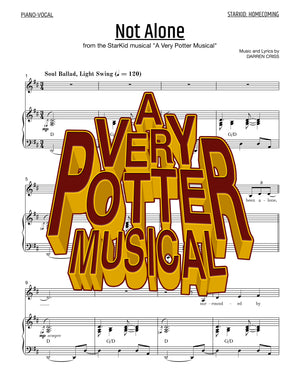 A Very Potter Musical - Sheet Music - Not Alone