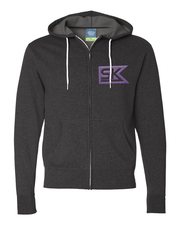 StarKid – SK Flag Charcoal Heather Zip Hoodie Fleece