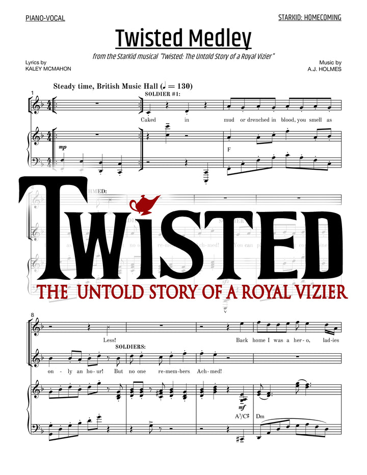 Twisted - Sheet Music - StarKid Homecoming Medley