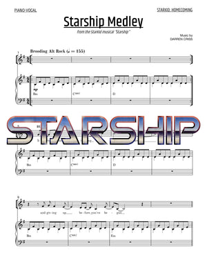 Starship - Sheet Music - StarKid Homecoming Medley