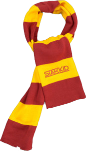 StarKid – Cardinal and Gold Winter House Scarf