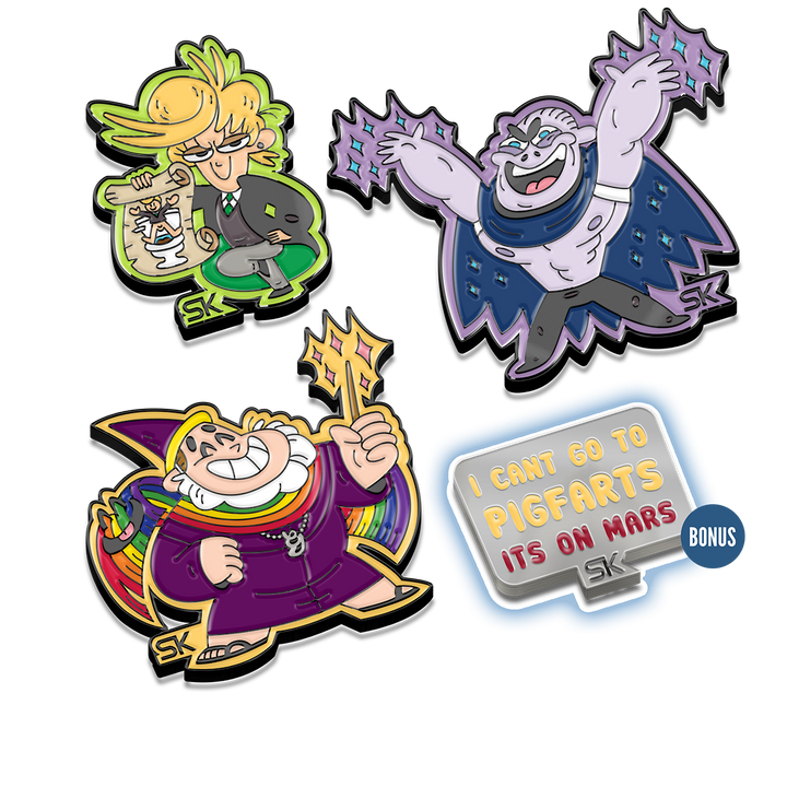 Pindemonium Enamel Pin Package (Packs 2, 3, and 4)