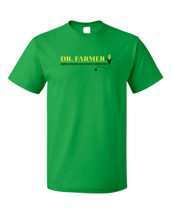 "Standard Green StarKid Airport for Birds ""Dr Farmer"" T-shirt"