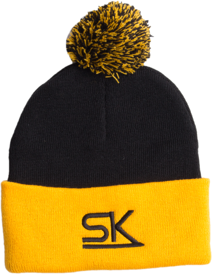 StarKid – Gold and Black Winter Pom Hat