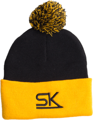 StarKid – Navy and Gold Winter Pom Hat